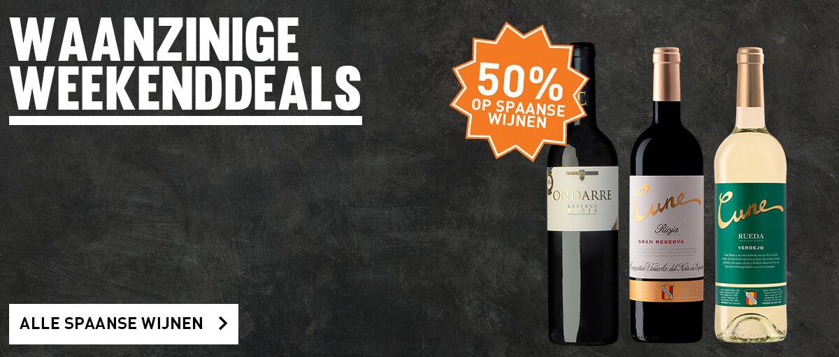 Spaanse wijnen: tot 50% korting!