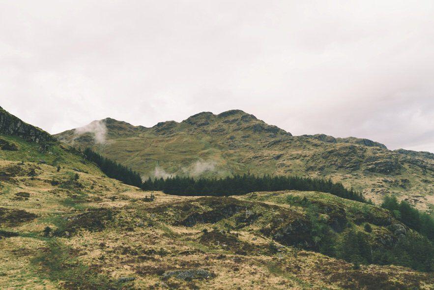 whiskey heuvellandschap
