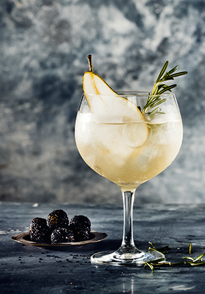 Lillet winter cocktail