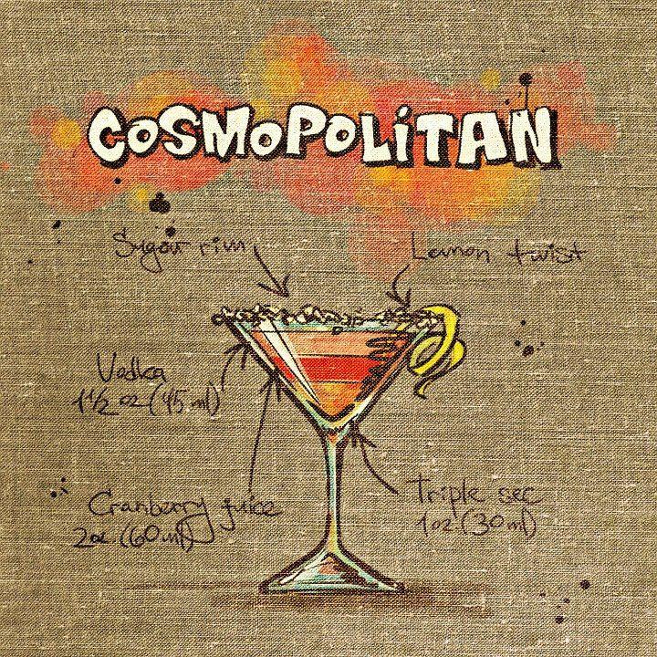 cosmopolitan cartoon poster