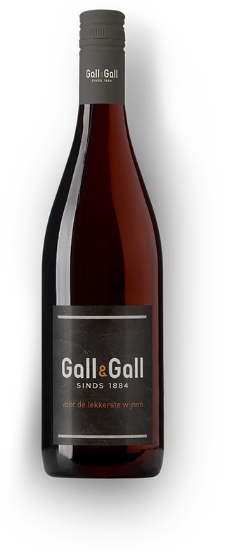 Rode burgundy fles gall en gall logo