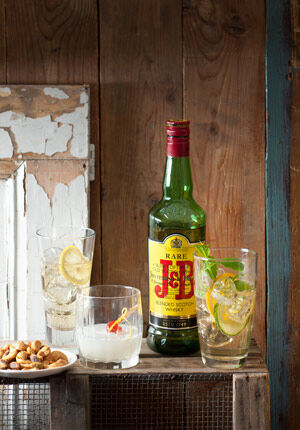 J&B Whisky in de mix