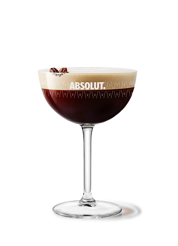De Absolut Espresso Martini cocktail