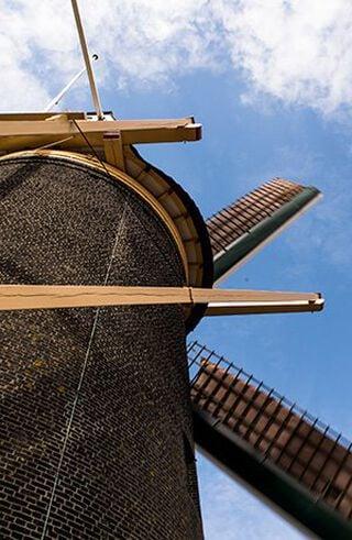 Een oude windmolen
