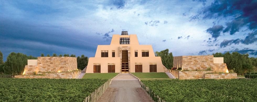 Het huis van Catena gelegen tussen de wijngaarden