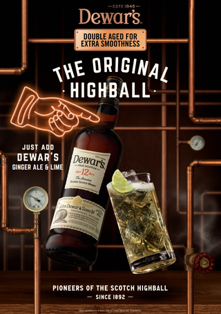 HIGHBALL DEWAR'S & GINGER ALE