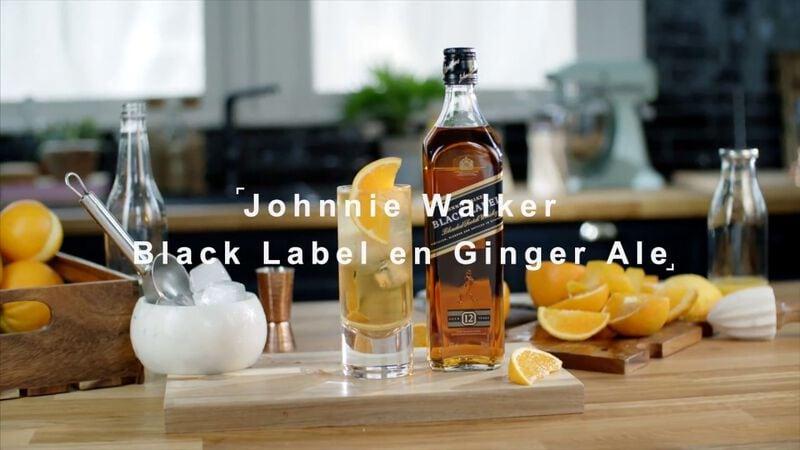 JOHNNIE WALKER BLACK LABEL & GINGER ALE