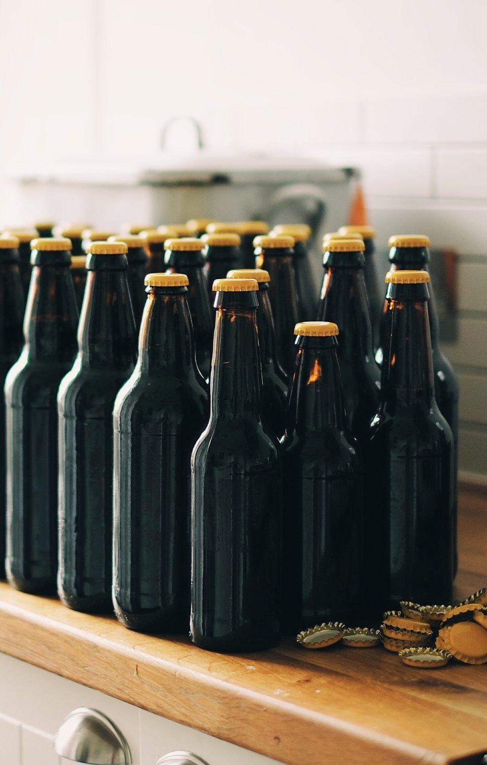 lege flesjes bier