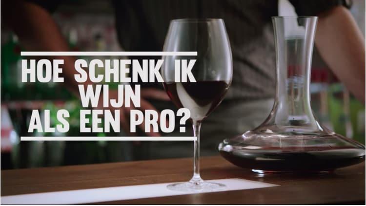 Hoe schenk je wijn?