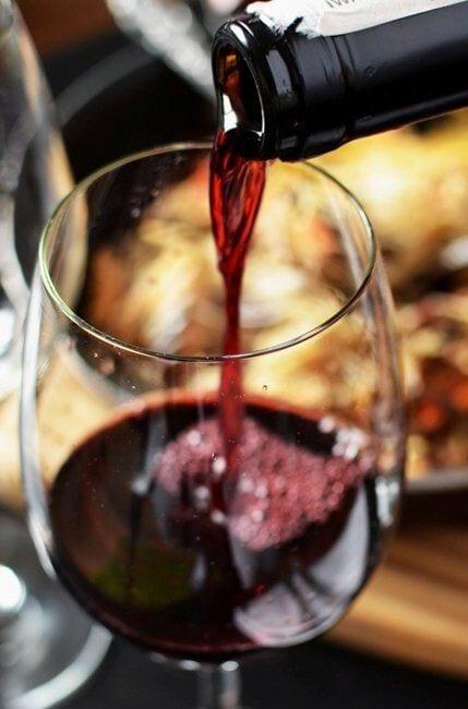 Zoete rode wijnsaus