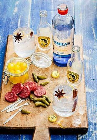 damrak gin en tonic benodigdheden