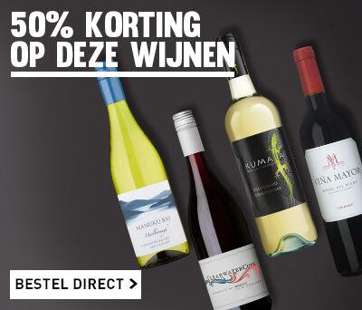 Deze wijnen met 50% korting!