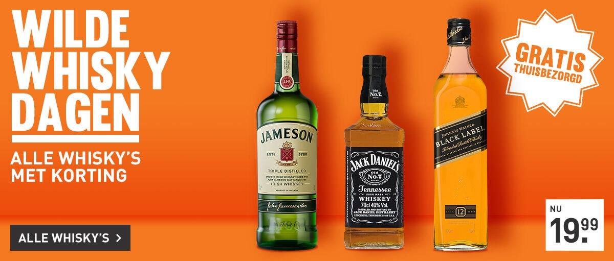 Wilde Whisky Dagen: heel veel whisky's met korting!