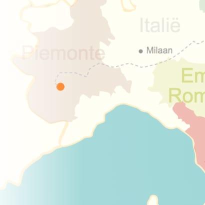 kaart van Piemonte