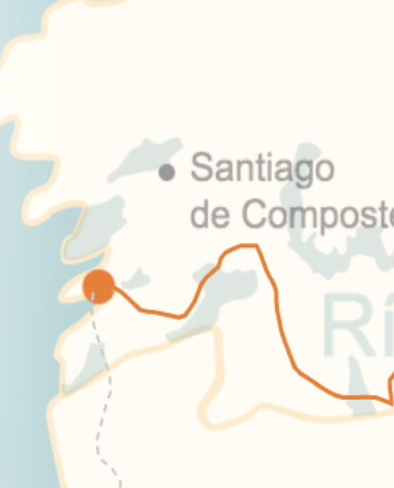 kaart van de streek rond Riás Baixas