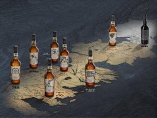 de houses of westeros en night's watch whisky's