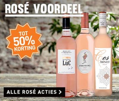 Tot 50% korting op rosé