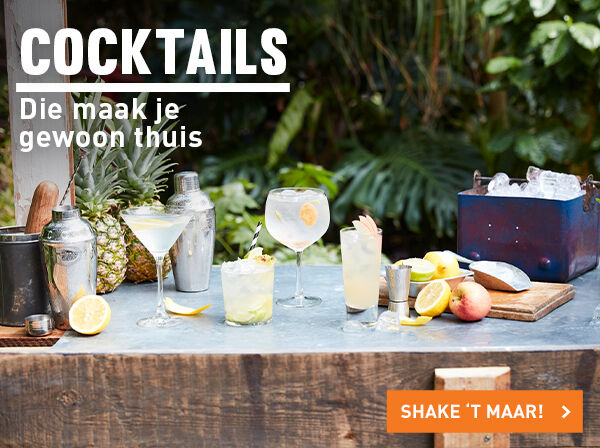 De lekkerste cocktails shake je zelf!