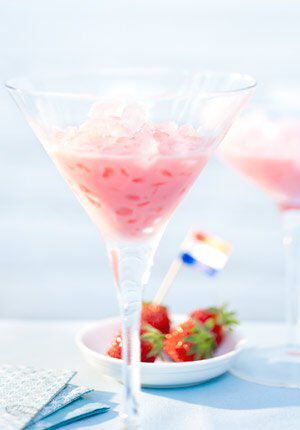 Een strawberry hill cocktail