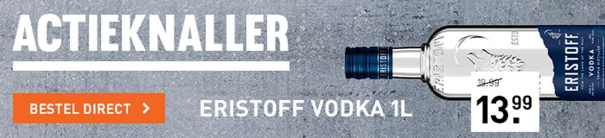 Eristoff Vodka voor 13.99