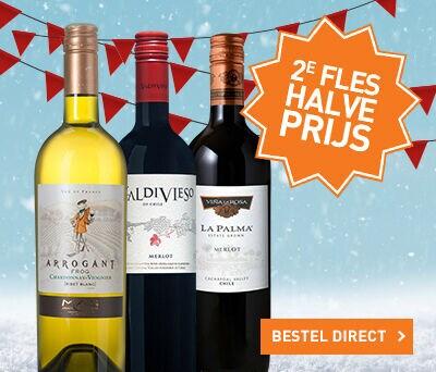 Winterflestival, dus 1600 wijnen: 2e fles halve prijs!