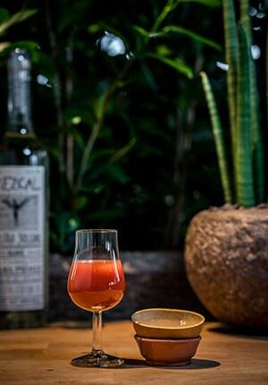 Nuestra Mezcal Sangrita cocktail
