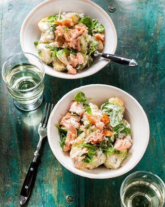 salade van aardappel en zalm - paasgerecht