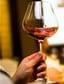 glas rode wijn walsend