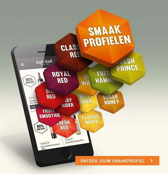smaakprofielen smartphone visualisatie