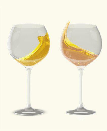 Getekende afbeelding van twee glazen wijn