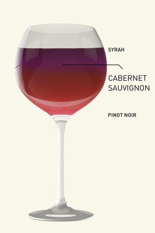 Kleuren Rode wijn