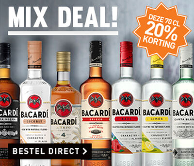 Bacardi: 20% korting op deze flessen