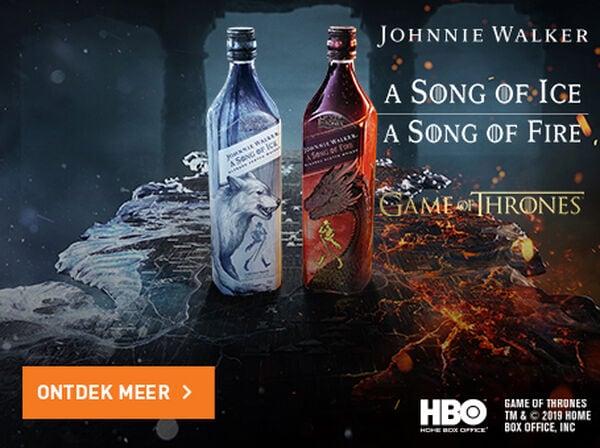 Schrijf je nu in voor de nieuwe varianten van Johnnie Walker: Song of Fire en Song of Ice