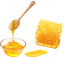 honing drippend in een schaaltje