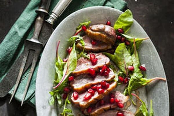 Kerst: Eendenborstfilet met granaatappelsaus