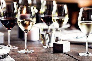 Glazen wijn
