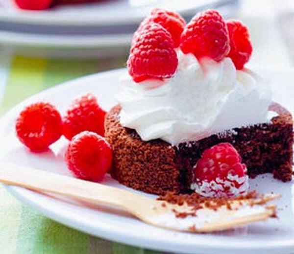 Chocoladecake met frambozen