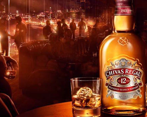 chivas regal fles en glas