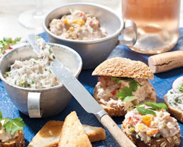 Makreelrilette en tonijnsalade