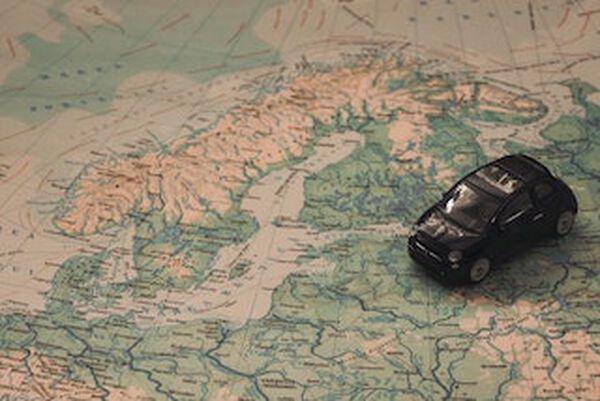 Auto op kaart