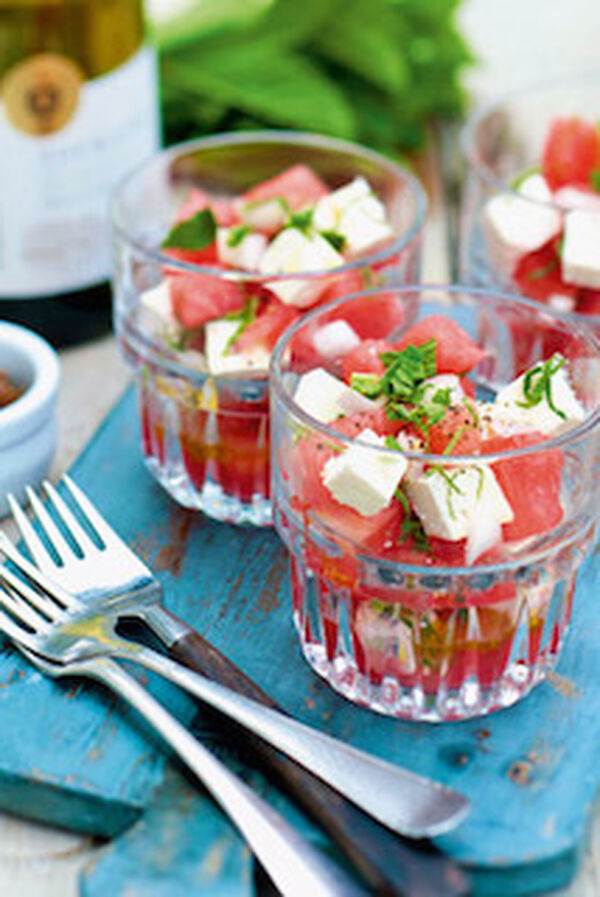 Watermeloensalade met feta en munt - paasgerecht