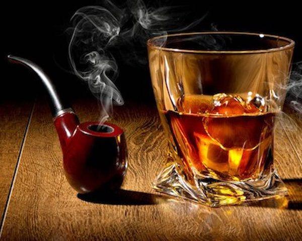 Bourbon en een pijp