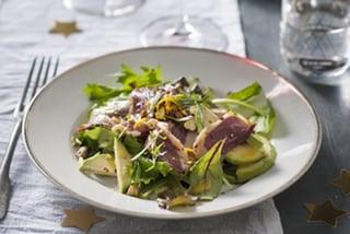 Kerst: Salade van eend met sinaasappeldressing
