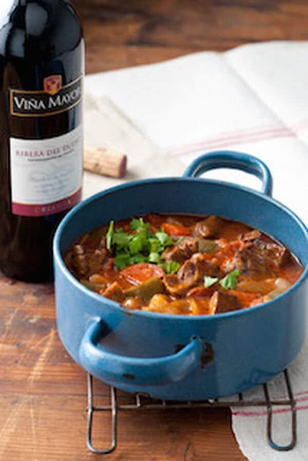 Spaanse stoofschotel met chorizo en sherry