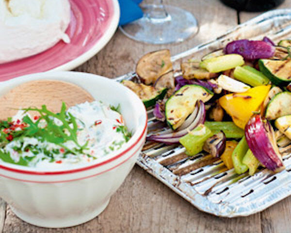 Geroosterde groenten met ricottacrème