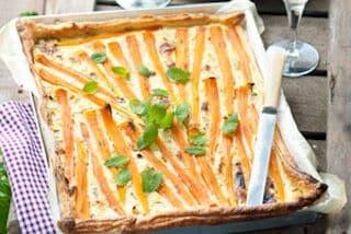 Vega: Hartige taart met bospeen - paasgerecht