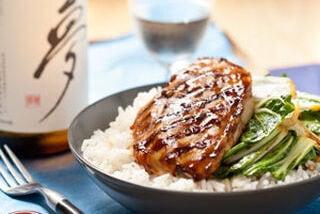 Kip teriyaki met rijst en paksoi