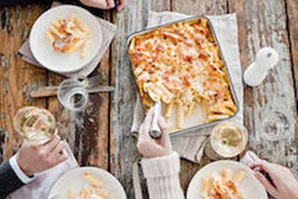 Pastaschotel met zalm