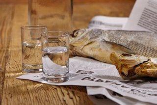 Wodka en vis