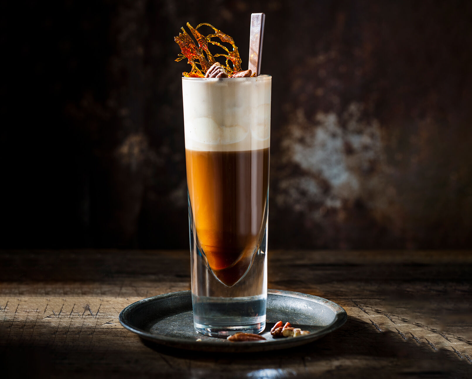 irish coffee met bourbon